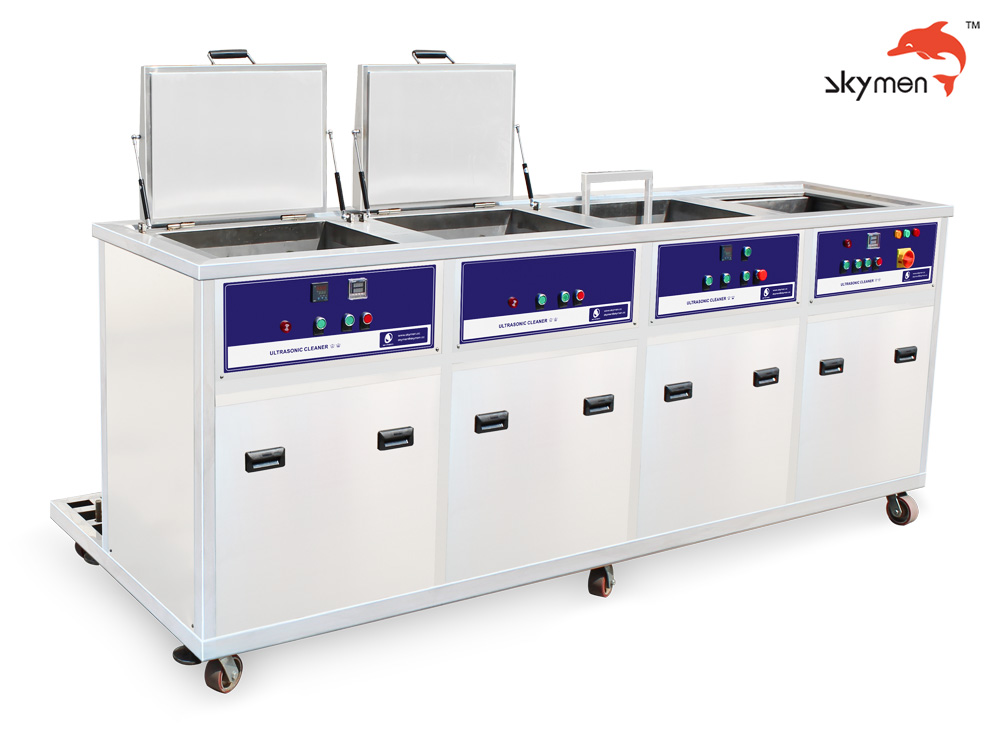 Four tank ultrasonic cleaning machine